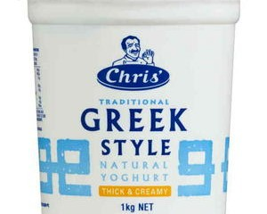 Greek Style Yoghurt 1kg (Chris's)