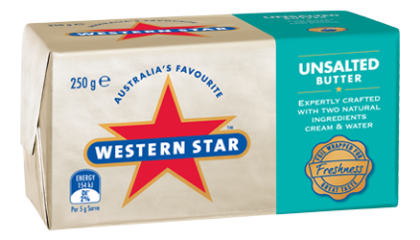 Western Star Butter Unsalted 250gm